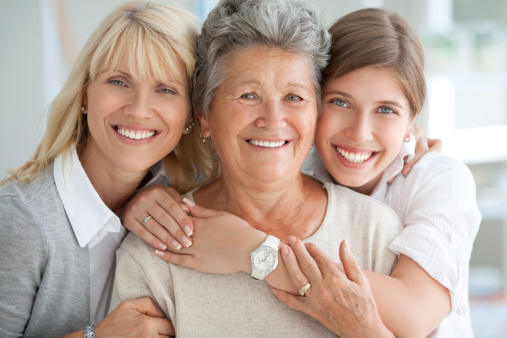 Three Female Generations Stock Photo - Download Image Now