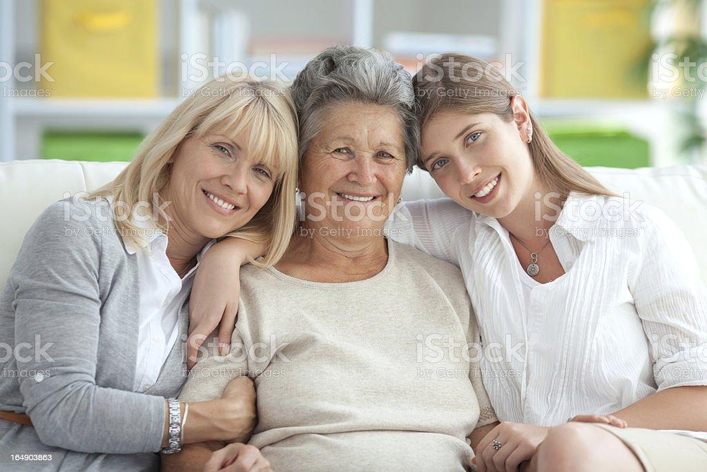 Three female generations. royalty-free stock photo