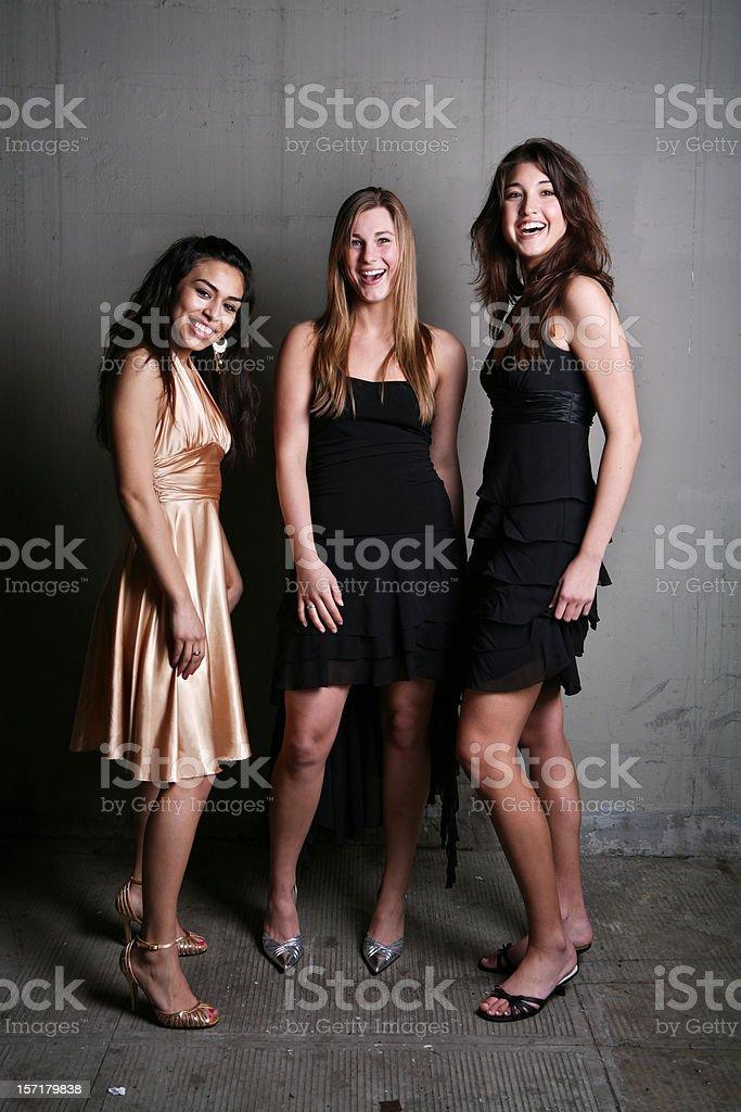 Three Females Smiling Portrait royalty-free stock photo