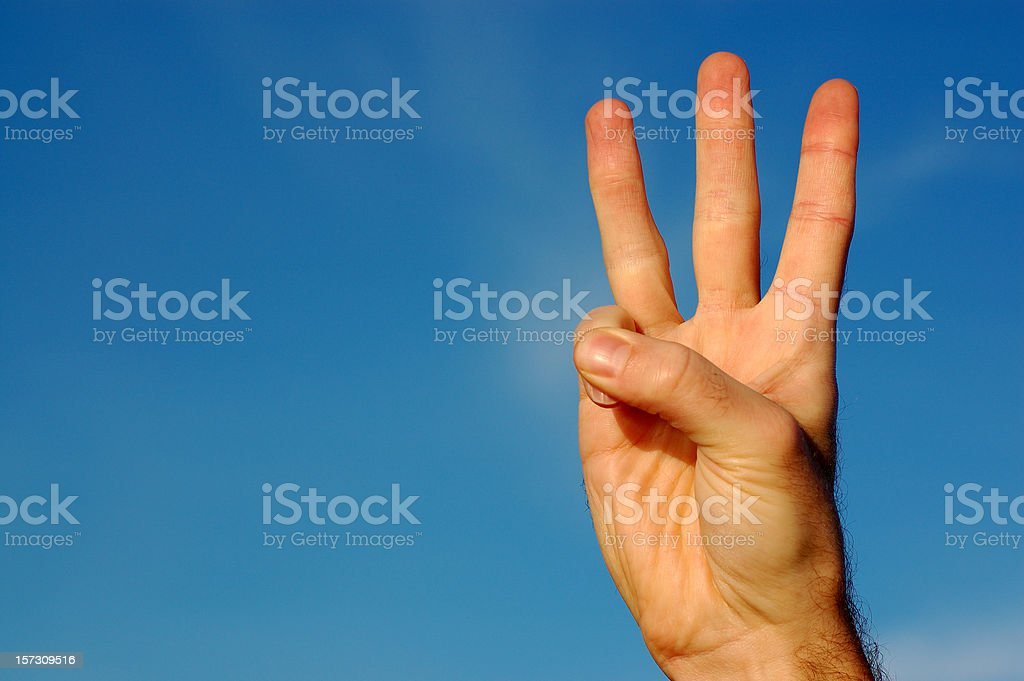 Three Fingers royalty-free stock photo
