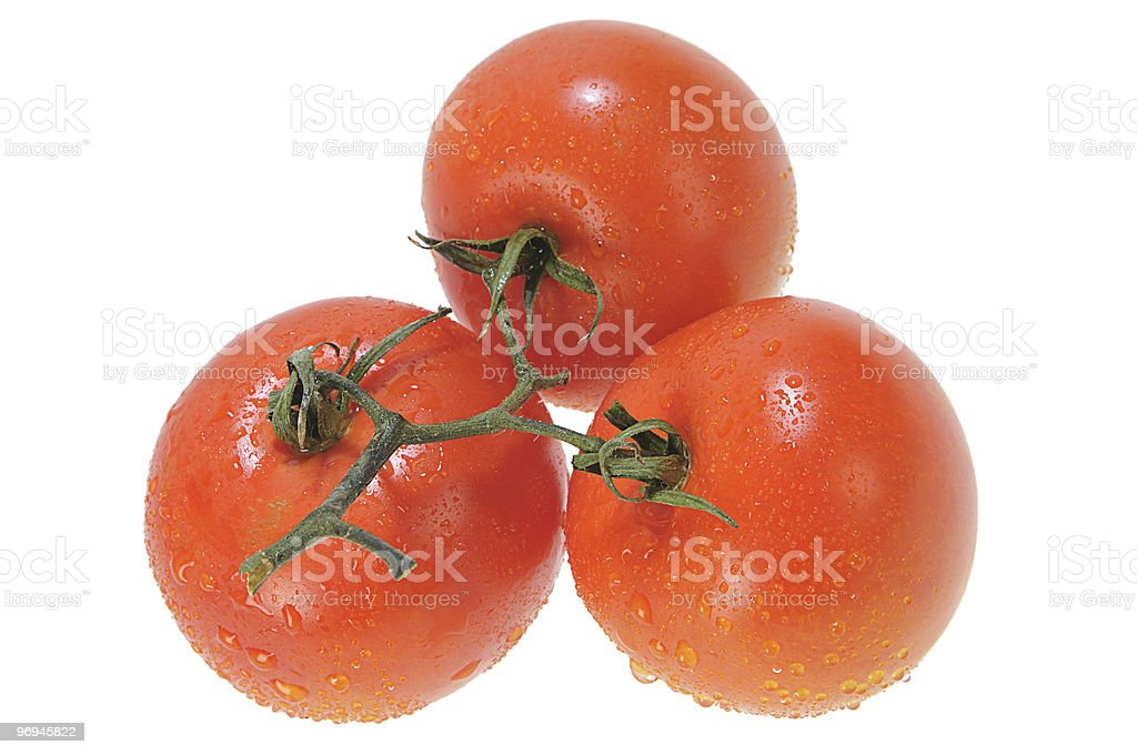 Three Five Red Tomatoes royalty-free stock photo