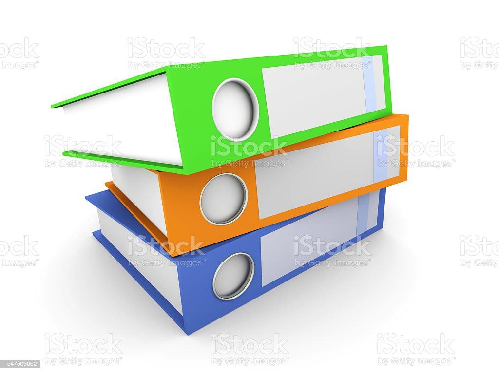 Three Folders stock photo