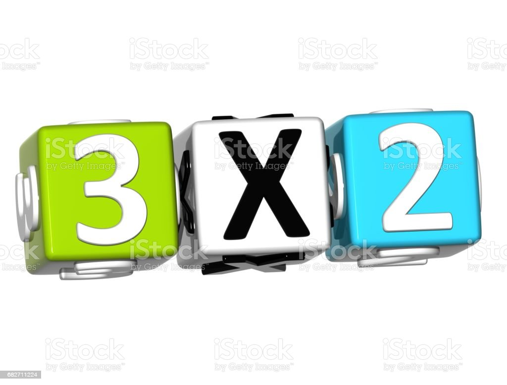 3D Three For Two Button Click Here Block Text stock photo