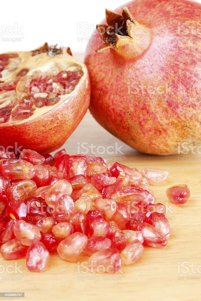 Three forms of pomegranate stock photo