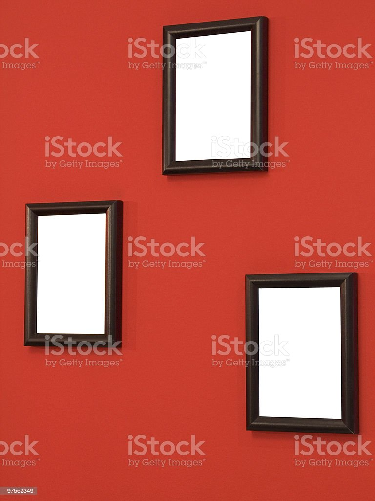 Three frames on wall royalty-free stock photo