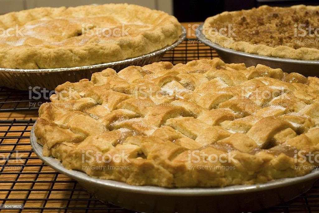 Drei frische Kuchen Lizenzfreies stock-foto