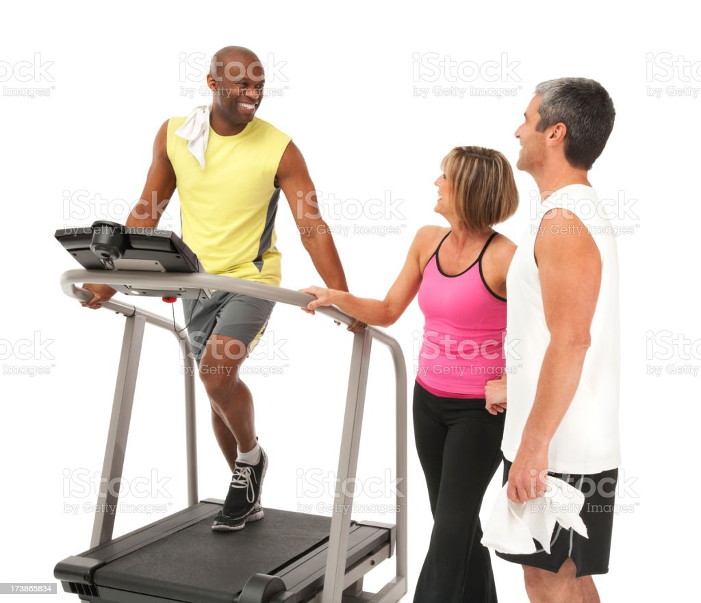 Three Friends at The Gym royalty-free stock photo