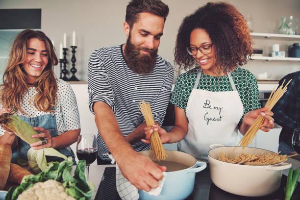 Three friends cooking spaghetti picture id905588284?b=1&k=6&m=905588284&s=612x612&w=0&h=w7xmn8ek31tfmtupiat8agebzhu2jnmpjbsffcwrkiq=