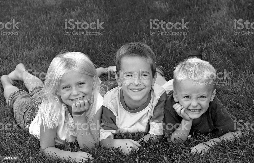 Tre amici foto stock royalty-free