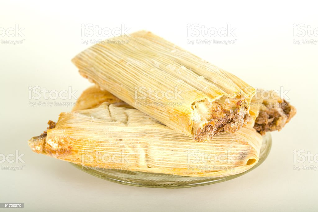 Three Frozen Tamales stock photo
