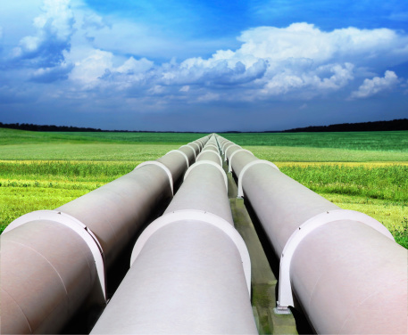 gas pipe line that laid through green field