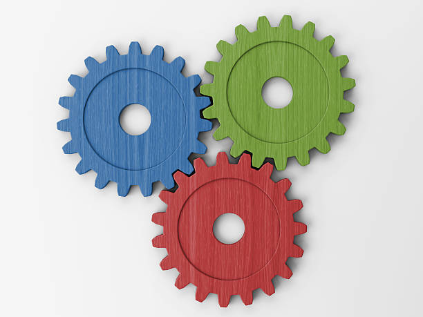 three gear to place concepts - three objects stock pictures, royalty-free photos & images