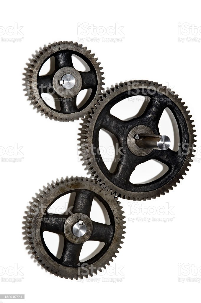 Three Gears working together royalty-free stock photo