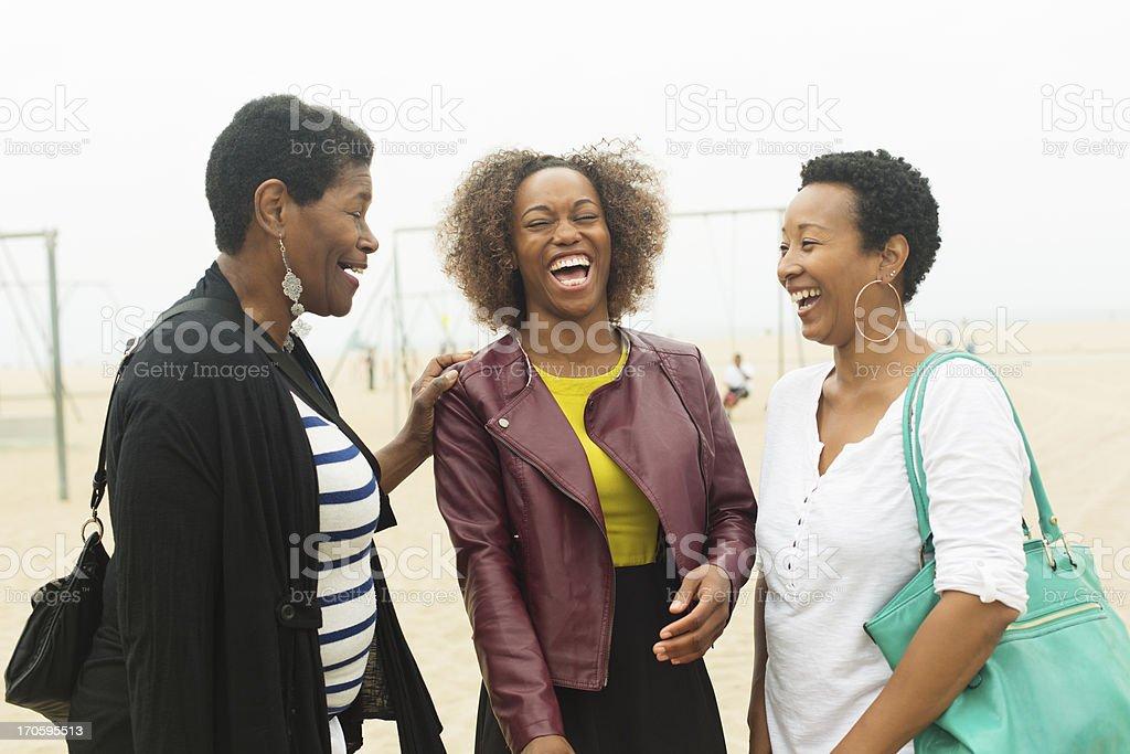 Three Generation Family At The Beach royalty-free stock photo