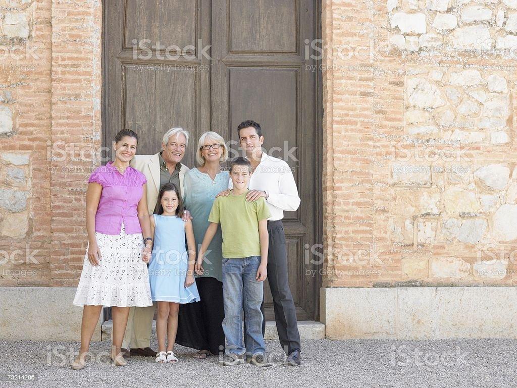 Three generation family royalty-free stock photo