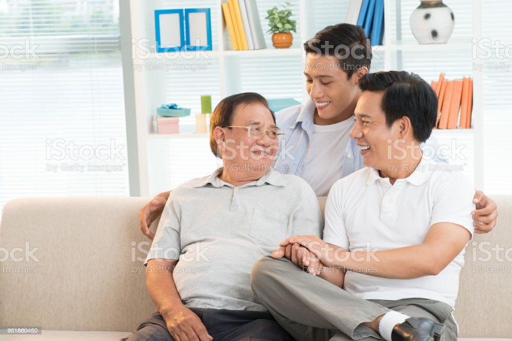 Three generation family stock photo