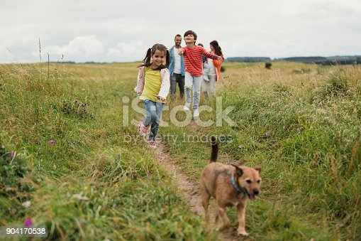istock Three Generation Out Walking 904170538