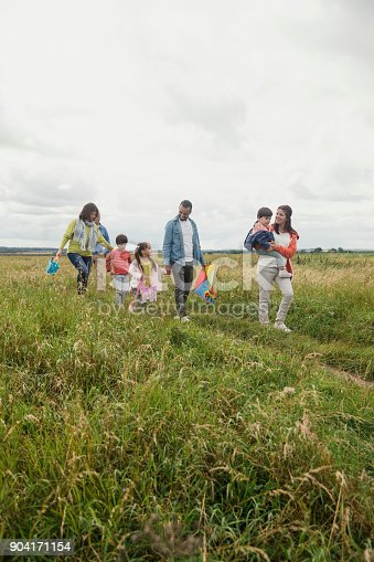 istock Three Generation Out Walking 904171154
