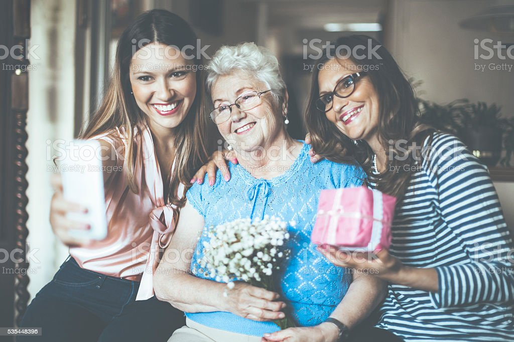Three generation stock photo