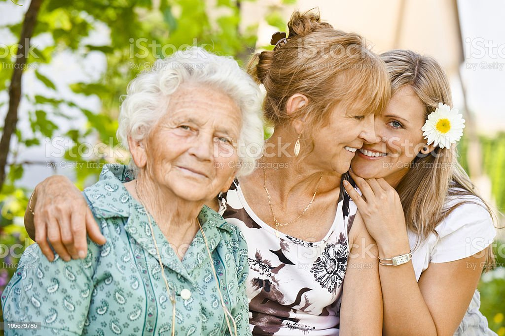 Three generation - portrait of a cheerful family - Royalty-free 30-34 Years Stock Photo