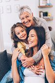 Three Generation woman happy smiling hug each other