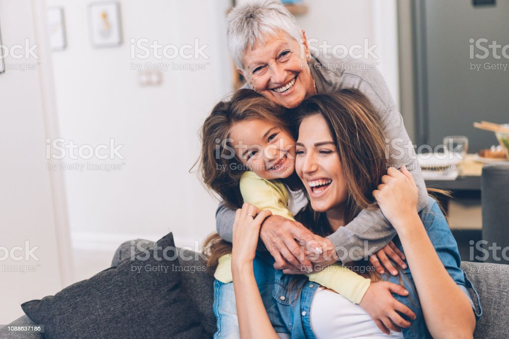 Three Generation women stock photo
