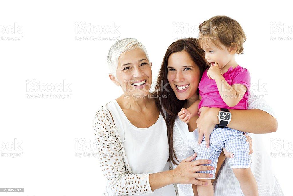 Three generations family stock photo