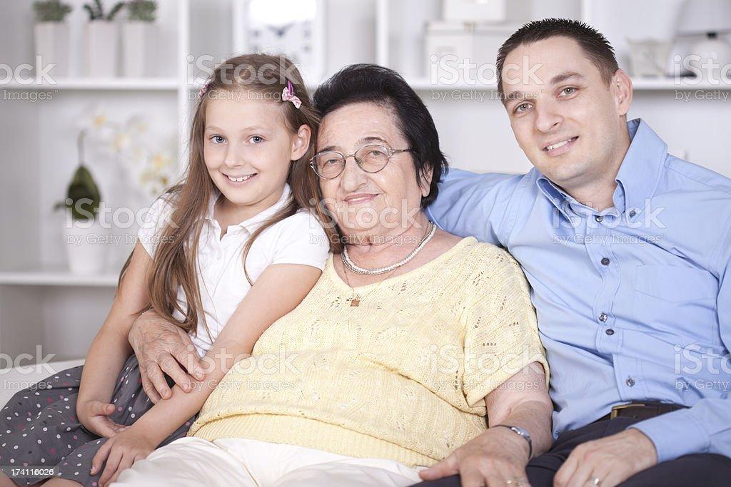Three Generations of family. stock photo