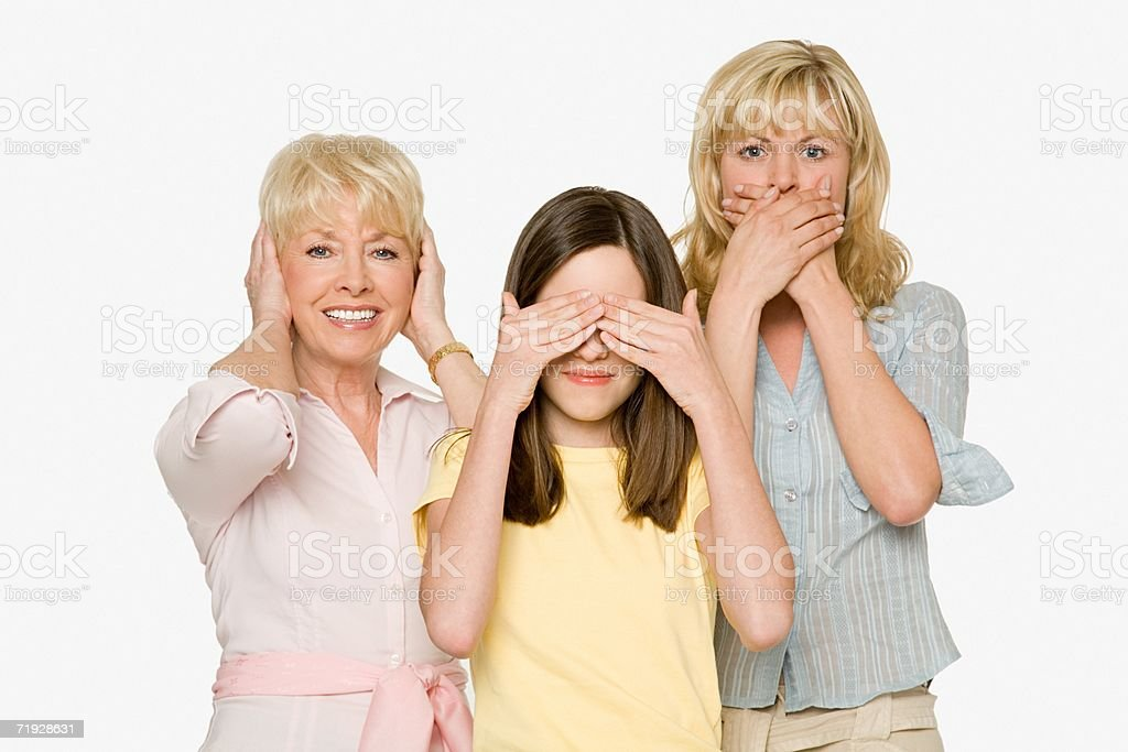 Three generations of females royalty-free stock photo