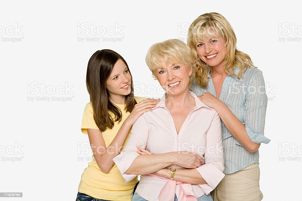 Three generations of females royalty-free stock photo
