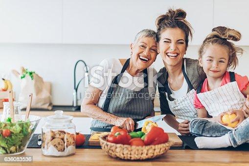 istock Three generations of femininity and happiness 636083536