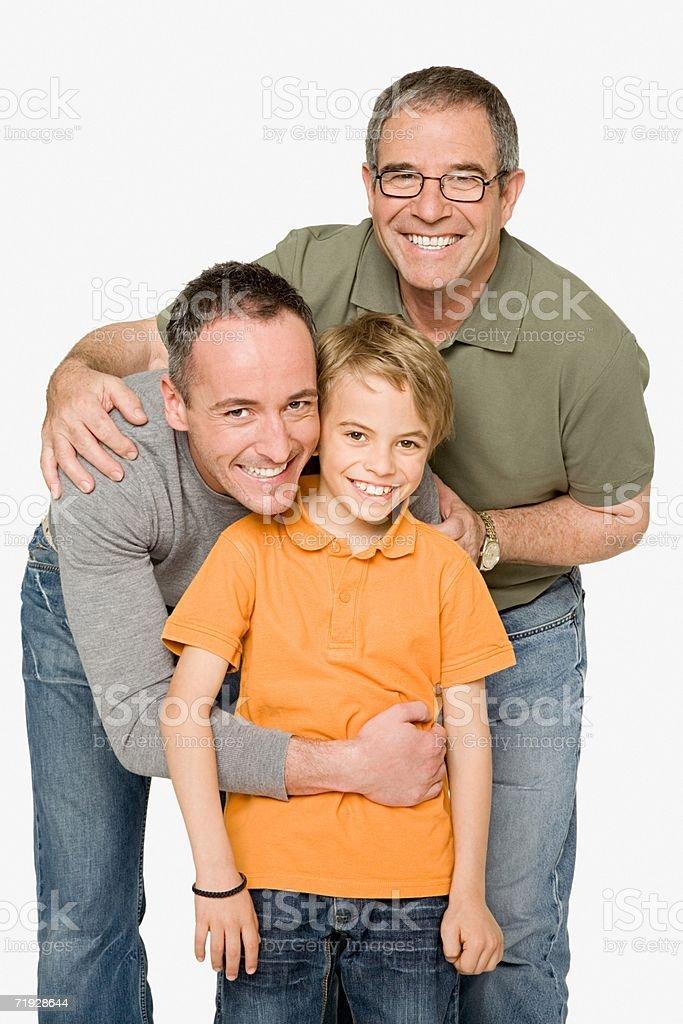 Tres generaciones de machos foto de stock libre de derechos