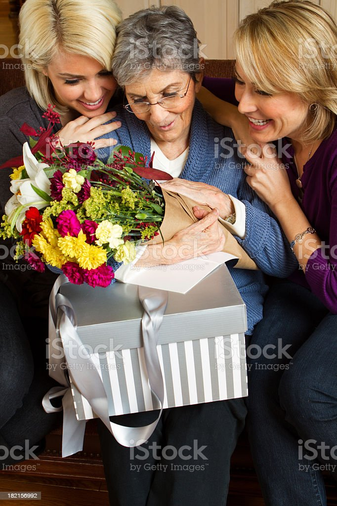 Three Generations of Woman stock photo