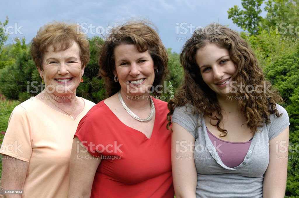 Three generations of women grandmother, mother and daughter royalty-free stock photo