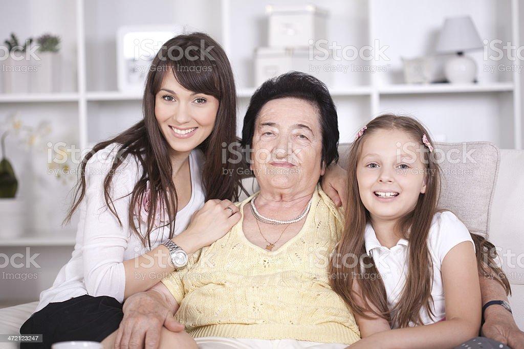 Three Generations of Women stock photo