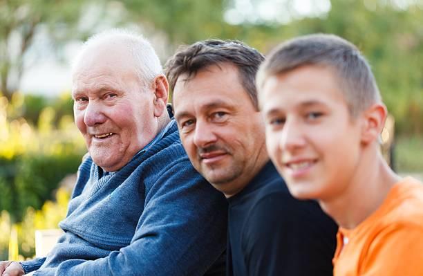 Porträt von drei Generationen – Foto