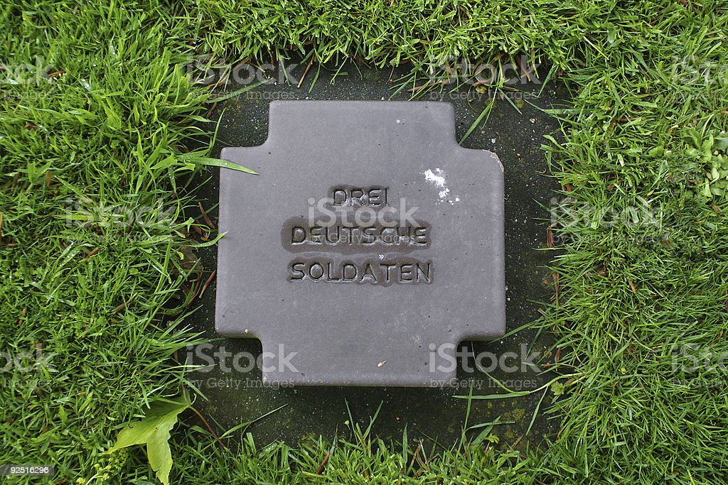 Three German Soldiers royalty-free stock photo