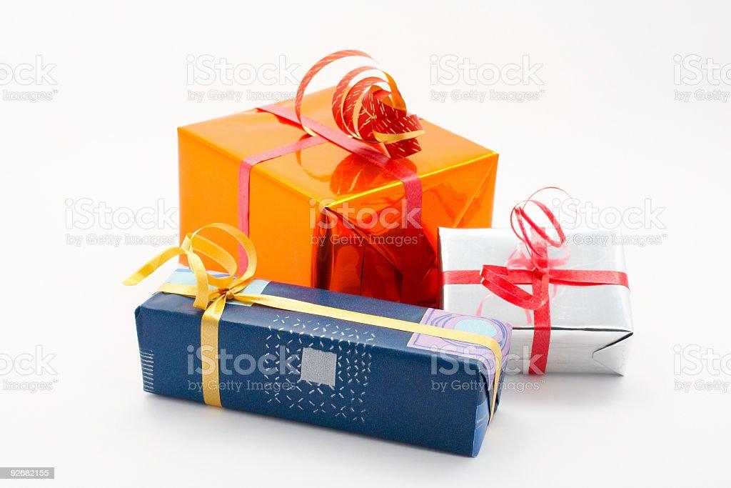 Three gift boxes royalty-free stock photo