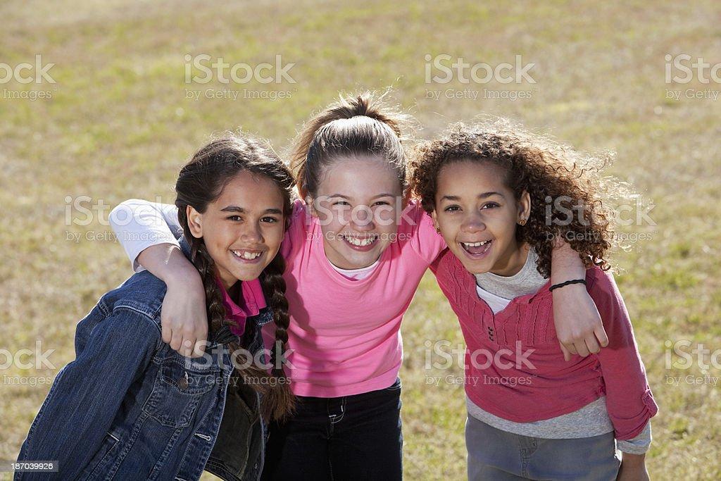 Three girlfriends royalty-free stock photo