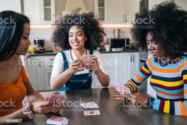 Three girls at home playing cards picture id1185596827?b=1&k=6&m=1185596827&s=612x612&h=kg5nrmrfmjpfqu6emp 3 hewdymvipvuihqw2esagy4=
