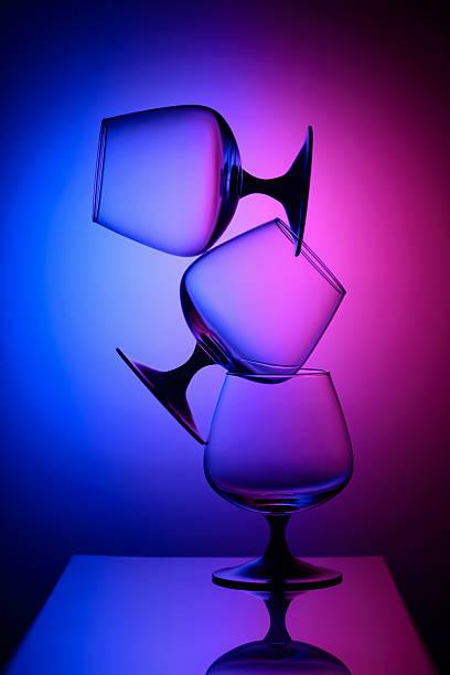 Cтоковое фото Три очки в двухцветной света