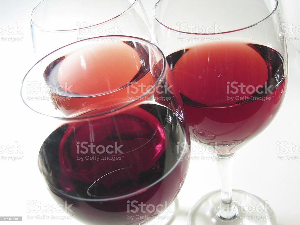 three glasses of wine royalty-free stock photo