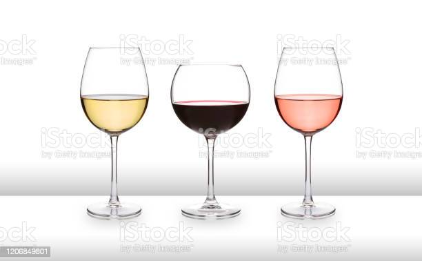 Three glasses of wine white red and rose on a white bar like surface picture id1206849801?b=1&k=6&m=1206849801&s=612x612&h=8wf8bn wjqm3mnw7rfzhs alk2oe0f0fjxkw tzzife=