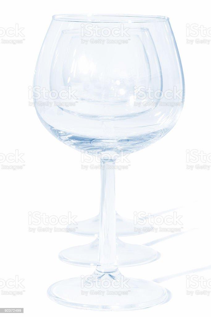 three glasses royalty-free stock photo