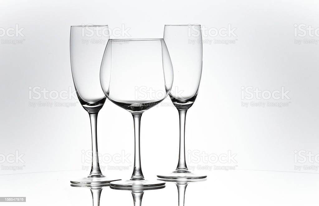 Three goblets royalty-free stock photo