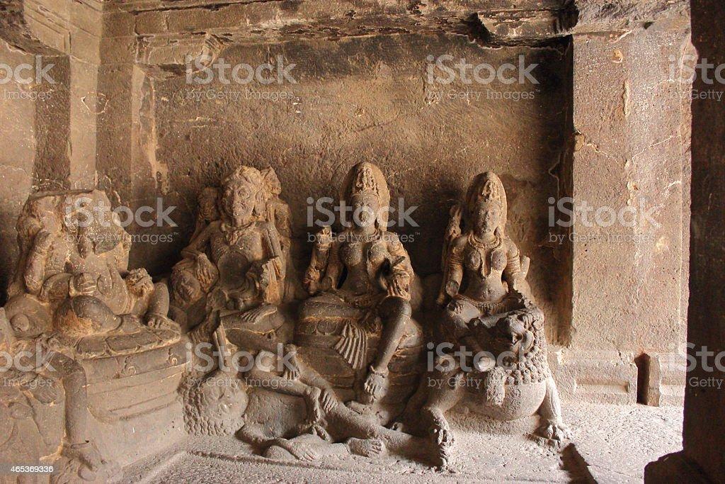 Three Godess of Hinduism (Kali, Durga and Laxmi) stock photo