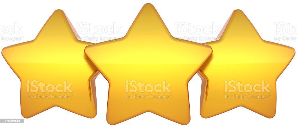 Three gold stars royalty-free stock photo