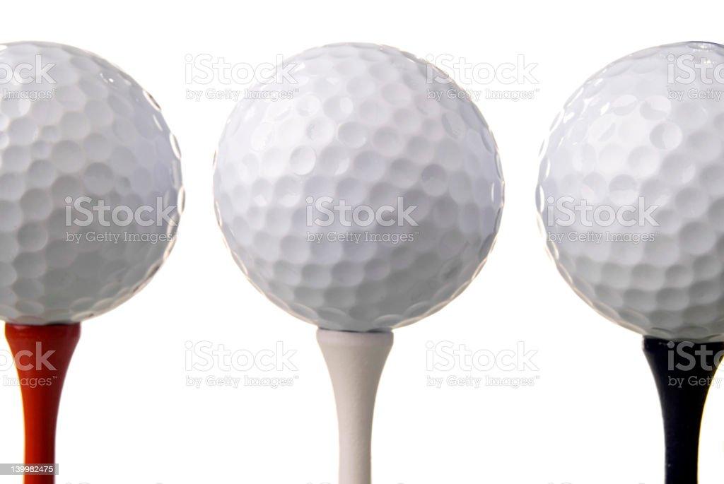 Three Golf Balls royalty-free stock photo