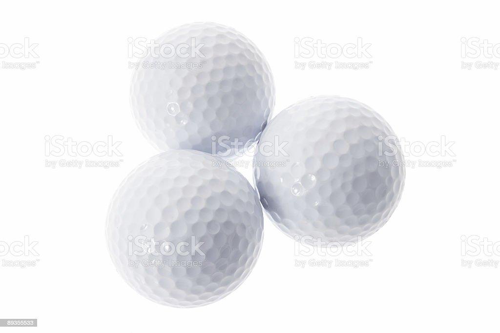 Three Golf Balls royaltyfri bildbanksbilder