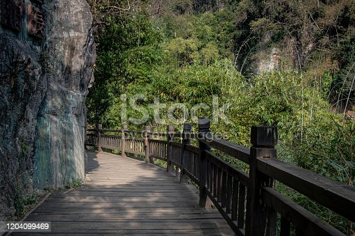 Three Gorges Tribe Scenic Spot along the Yangtze River, This here is located at the Three gorge dam in the Yangtze river, It's a 5A national park in China. Fresh and relax. Yichang Hubei / China.